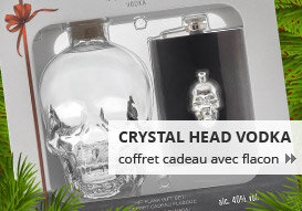 Crystal Head Vodka coffret cadeau avec flacon
